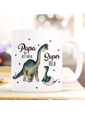 Tasse Becher Dino Papa Junges Papa du bist mein Superheld Geschenk ts1020