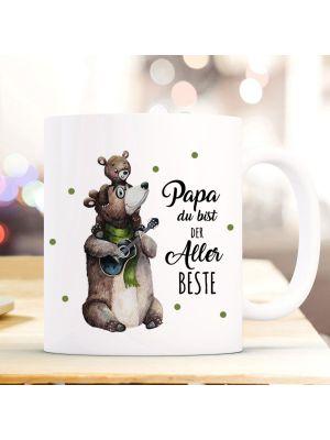 Tasse Becher Bär Papa Junges Papa du bist der Allerbeste Geschenk ts1022