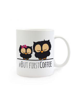 Tasse Kaffeebecher Kaffeetasse Eulen Eulchen mit Spruch