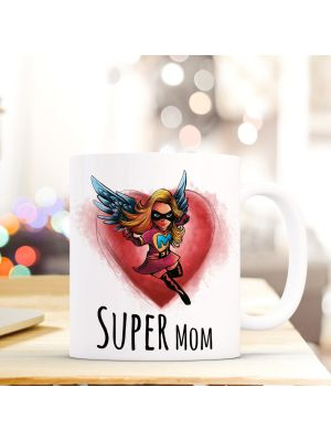 Tasse Muttertag mit Superheld und Spruch Super Mom cup mother's day with superhero and saying super mom ts267