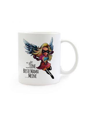 Tasse Muttertag mit Superheld und Spruch Es gibt nur eine beste Mama...meine cup mother's day with superhero and saying there is only one best mama ... mine ts269