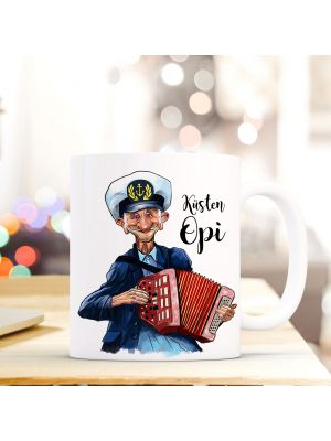 Tasse Becher Kaffeetasse Kaffeebecher Maritim mit Kapitän Seemannsopi Akkordeon und Spruch Küstenopi Cup mug coffee cup coffee mug maritime with captain grandpa accordion and quote saying coastal grandpa ts446_H.jpg