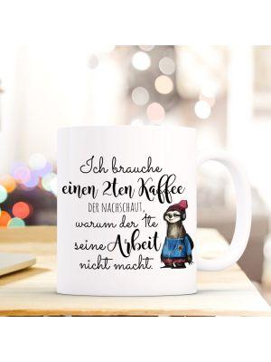 Tasse Faultier Kaffeebecher Kaffeetasse mit Spruch