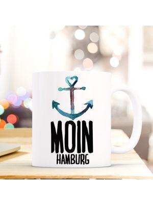 Tasse Teetasse Anker Kaffeebecher maritim Kaffeetasse mit Spruch