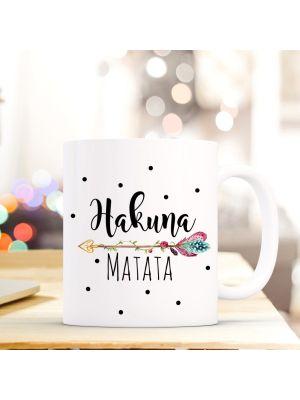 Tasse Becher Pfeil mit Punkten Kaffeebecher Kaffeetasse mit Spruch
