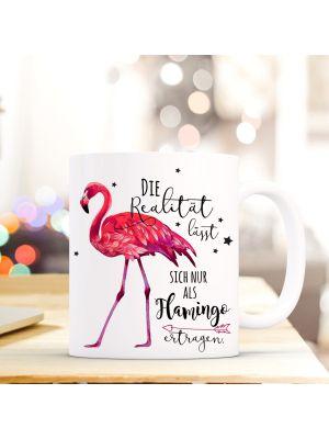 Tasse Flamingo Kaffeetasse mit Spruch