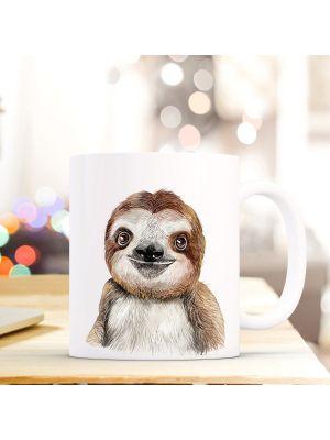 Kaffeebecher Tiertasse Teetasse Kaffeetasse mit Faultier Motivbecher ts740