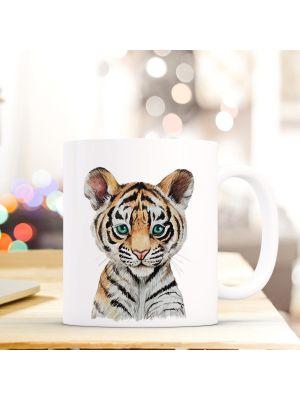 Kaffeebecher Tiertasse Teetasse Kaffeetasse mit Tiger Motivbecher ts746