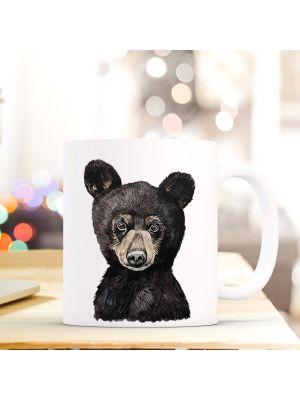 Kaffeebecher Tiertasse Teetasse Kaffeetasse mit Bärchen Motivbecher ts752
