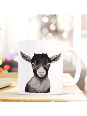 Kaffeebecher Tiertasse Teetasse Kaffeetasse mit Zicklein Motivbecher ts754