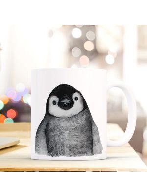 Kaffeebecher Tiertasse Teetasse Kaffeetasse mit Pingiun Motivbecher ts756