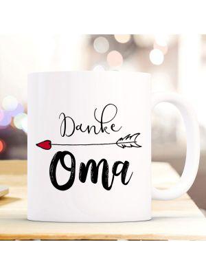Tasse Becher Kaffeetasse Danke Oma & Wunschnamen Name Geschenk ts847