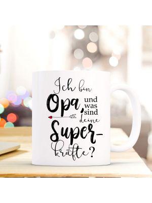 Tasse Becher Fuchs Ich bin Opa was sind deine Superkräfte & Kaffeebeche ts852