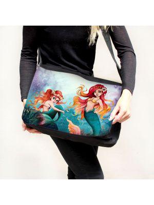 Schultertasche Schultasche Tasche Umhängetasche Meerjungfrau Geschwister tsu93