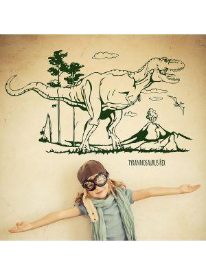 Dino-wandtattoo