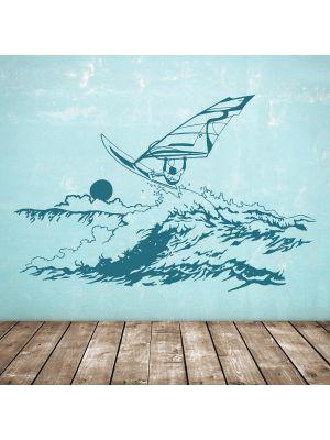 Windsurfer-wandtattoo