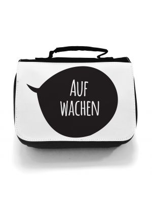 Waschtasche Kosmetiktasche Sprechblase aufwachen Morgenmuffel toilet bag speech bubble wake up morning grouch wt015