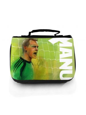 Waschtasche Waschbeutel Kulturbeutel Kosmetiktasche Reisewaschtasche Fussballer Torwart Manu Neuer wt102 Washbag toilet bag sponge bag cosmetics bag travel washbag footballer Keeper Manu Neuer wt102