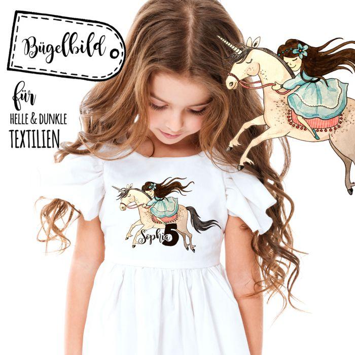 Bügelbild zum Geburtstag Applikation Pinguin Mädchen mit Name und Alter bb06 Basteln & Kreativität
