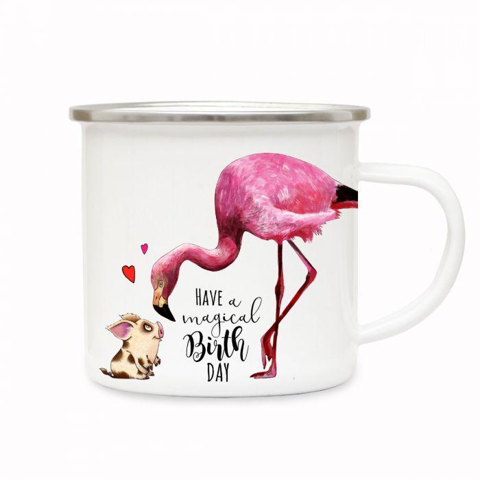 Tasse Becher Geburtstag Flamingo Spruch Birthday Geschenk Namen Wunschname Ts685 Trinklerntassen & -becher