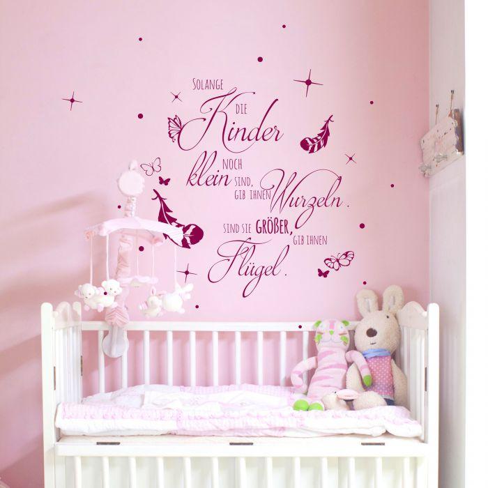 Wandtattoo Kinderzimmer mit Spruch Zitat solange Kinder klein sind ...