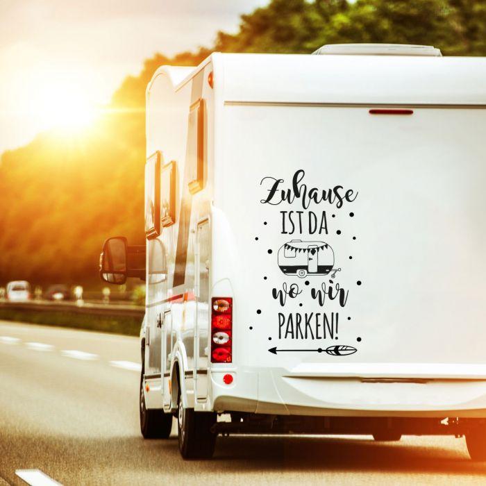 Autotattoo Camping Wohnwagen Spruch Zuhause Ist Da Wo Wir Parken