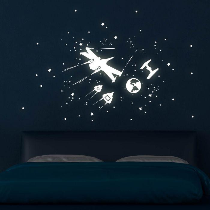 Wandtattoo Sternenflotte Raumschiffe Sterne Weltall Weltraum Mit
