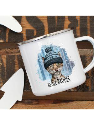 Emaillebecher Kaffeetasse Tasse Spruch Im Herzen Barfuß Campingtasse eb243