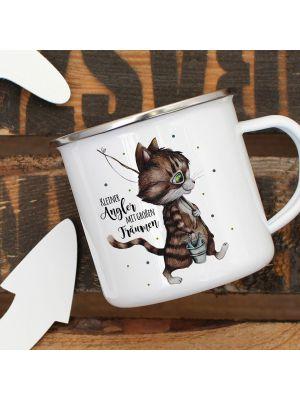 Tasse Becher Katze Kätzchen Papas Kleine Anglerin Kaffeetasse Geschenk Ts960 Ernährung Kindergeschirr & -besteck