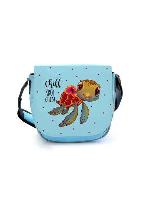 Kindergartentasche Schildkröte Chillkrötchen Tasche blau Wunschname kgt42