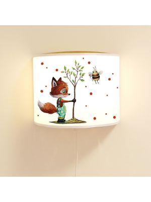 Wandlampe Kinderlampe Fuchs mit Baum & Biene Lampe Leselampe Kinderzimmer ls124