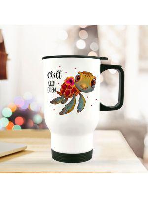 Kaffeetasse Kaffeebecher Becher Teetasse mit Faultier und Wunschname Name ts459