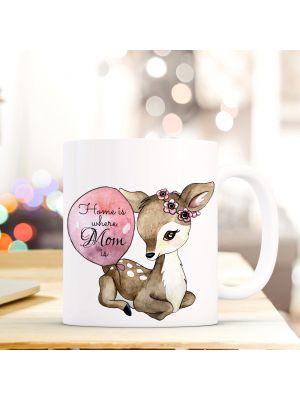 Tasse Becher Kaffeetasse Einhorn Punkte Und Spruch Home Is Where Mom Is Ts429 Ernährung Tassen