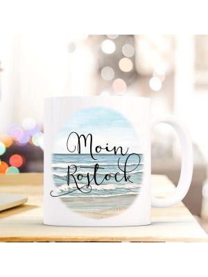 Baby Tasse Becher Kaffeebecher Geschenk Kaffetasse Waschbär Spruch Moin Mama Ts655